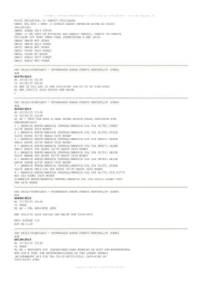 AISWEB - BOLETIM PERSONALIZADO - 15/07/2015 às 11:43:08 UTC - Total de Páginas: 54 página 23 de 54 :: IP 177.32.136.59 FL2...