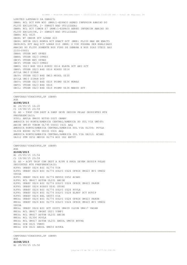 AISWEB - BOLETIM PERSONALIZADO - 15/07/2015 às 11:43:08 UTC - Total de Páginas: 54 página 29 de 54 :: IP 177.32.136.59 LIM...