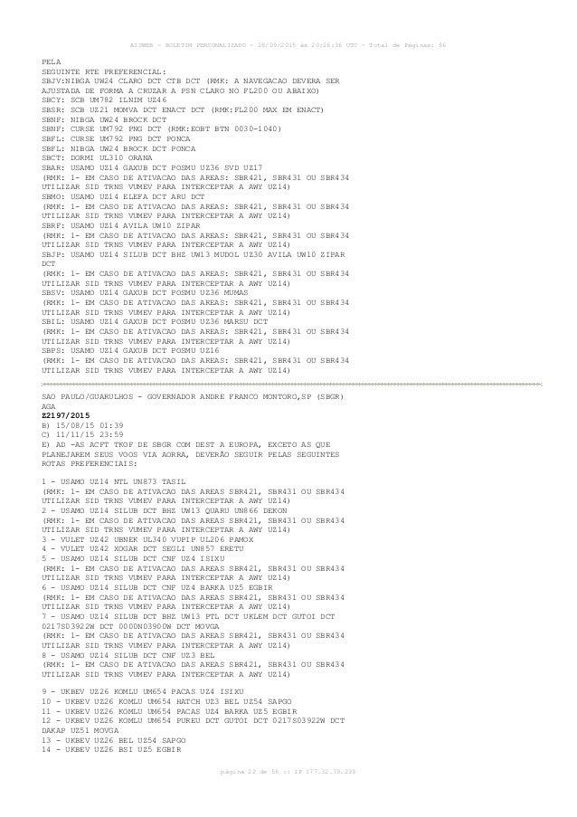 AISWEB - BOLETIM PERSONALIZADO - 28/09/2015 às 20:26:36 UTC - Total de Páginas: 56 página 22 de 56 :: IP 177.32.79.239 PEL...