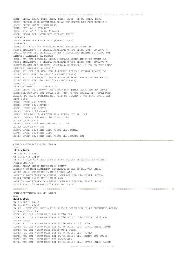 AISWEB - BOLETIM PERSONALIZADO - 28/09/2015 às 20:26:36 UTC - Total de Páginas: 56 página 31 de 56 :: IP 177.32.79.239 SBN...