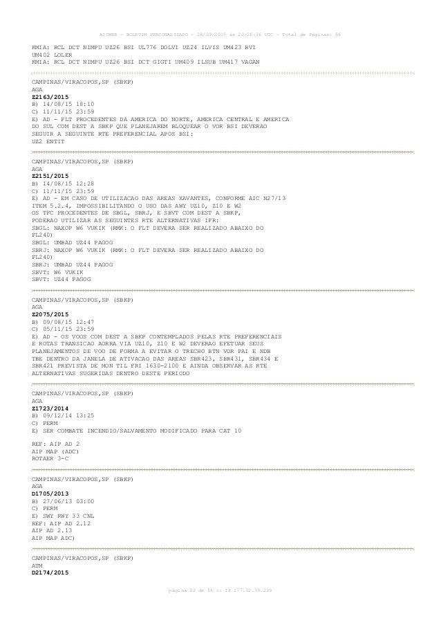 AISWEB - BOLETIM PERSONALIZADO - 28/09/2015 às 20:26:36 UTC - Total de Páginas: 56 página 32 de 56 :: IP 177.32.79.239 KMI...