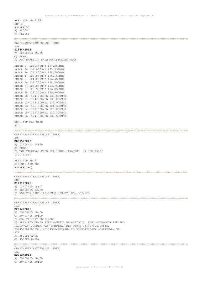 AISWEB - BOLETIM PERSONALIZADO - 28/09/2015 às 20:26:36 UTC - Total de Páginas: 56 página 34 de 56 :: IP 177.32.79.239 REF...