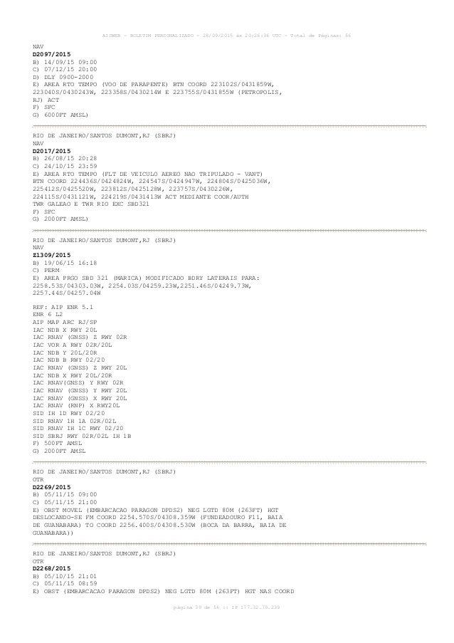 AISWEB - BOLETIM PERSONALIZADO - 28/09/2015 às 20:26:36 UTC - Total de Páginas: 56 página 39 de 56 :: IP 177.32.79.239 NAV...