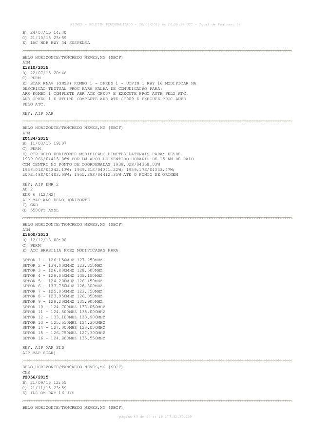 AISWEB - BOLETIM PERSONALIZADO - 28/09/2015 às 20:26:36 UTC - Total de Páginas: 56 página 49 de 56 :: IP 177.32.79.239 B) ...