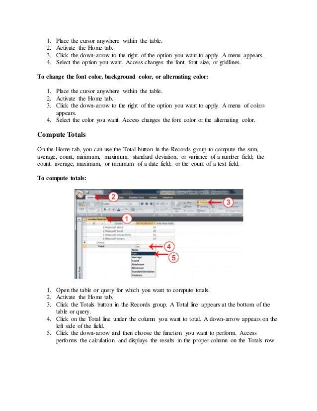 Nota ms access 2007