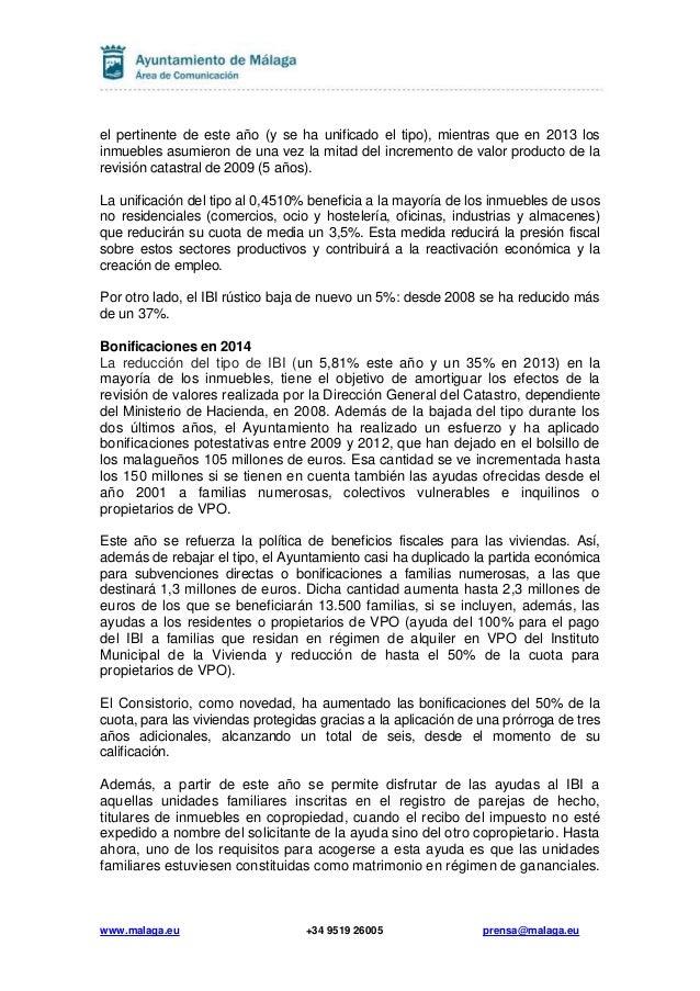El ayuntamiento introduce modificaciones en los recibos for Oficina padron malaga