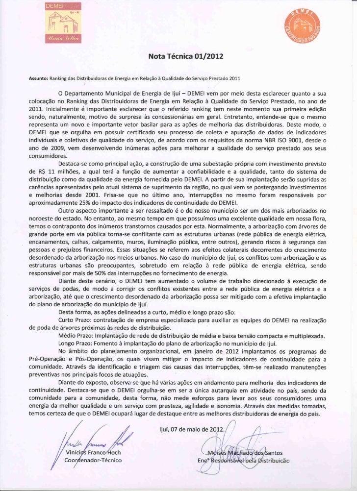 Nota oficial (prefeitura)