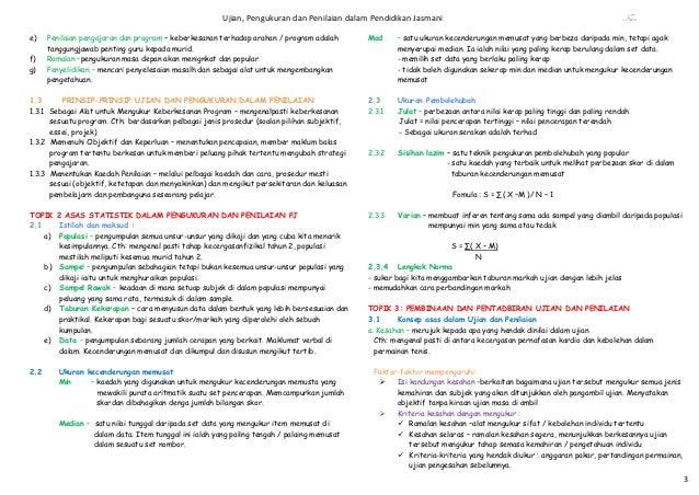 Ujian, Pengukuran dan Penilaian dalam Pendidikan Jasmani                                                        Fsaae)    ...