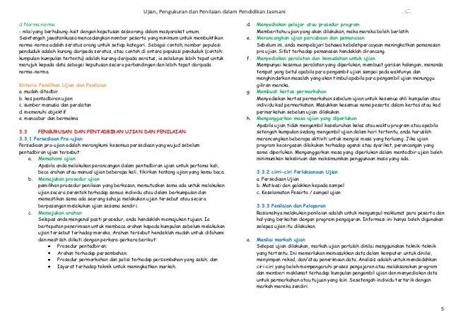 Ujian, Pengukuran dan Penilaian dalam Pendidikan Jasmani                                                     Fsaad. Norma-...