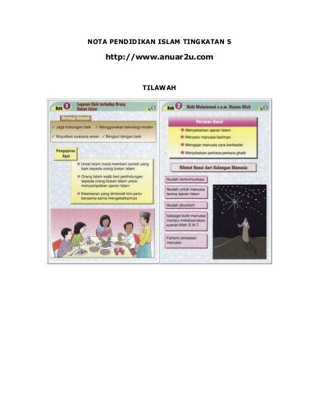 NOTA PENDIDIKAN ISLAM TINGKATAN 5    http://www.anuar2u.com            TILAWAH