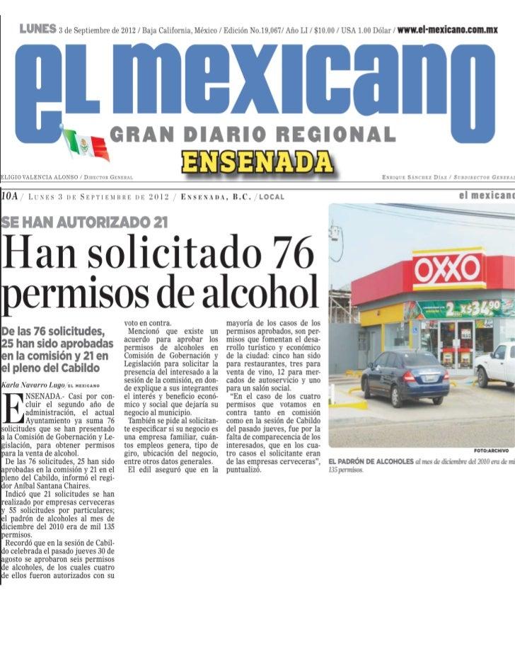 PERMISOS PARA CONSUMO DE ALCOHOL