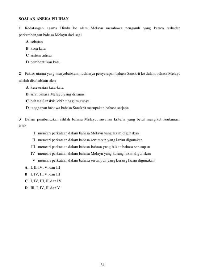 Nota Ringkas Bahasa Melayu Tingkatan 6 Stpm Penggal 1 2 3