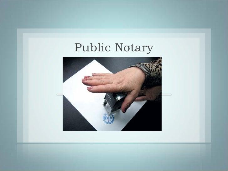 Public Notary