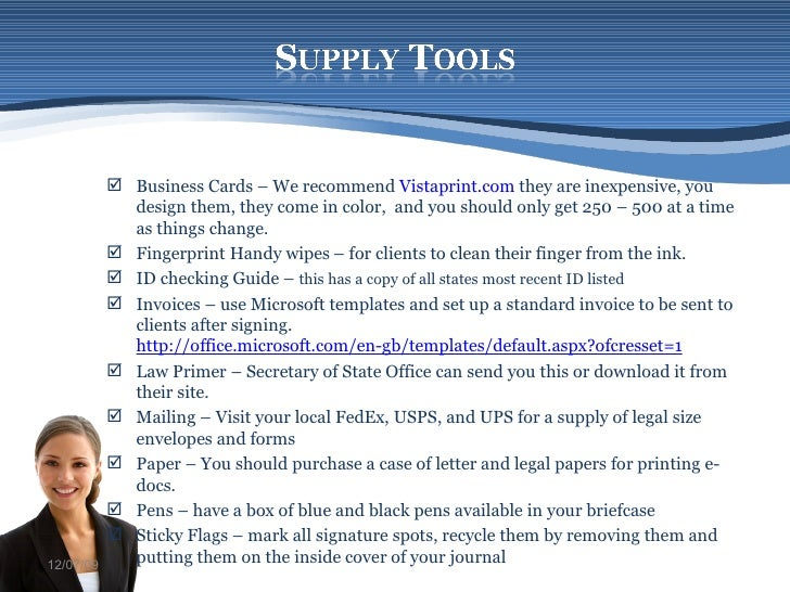 Starting a Mobile Notary – Sample Business Plan Template