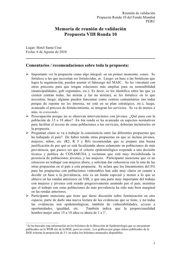 Notas 6ago2010 recomendaciones
