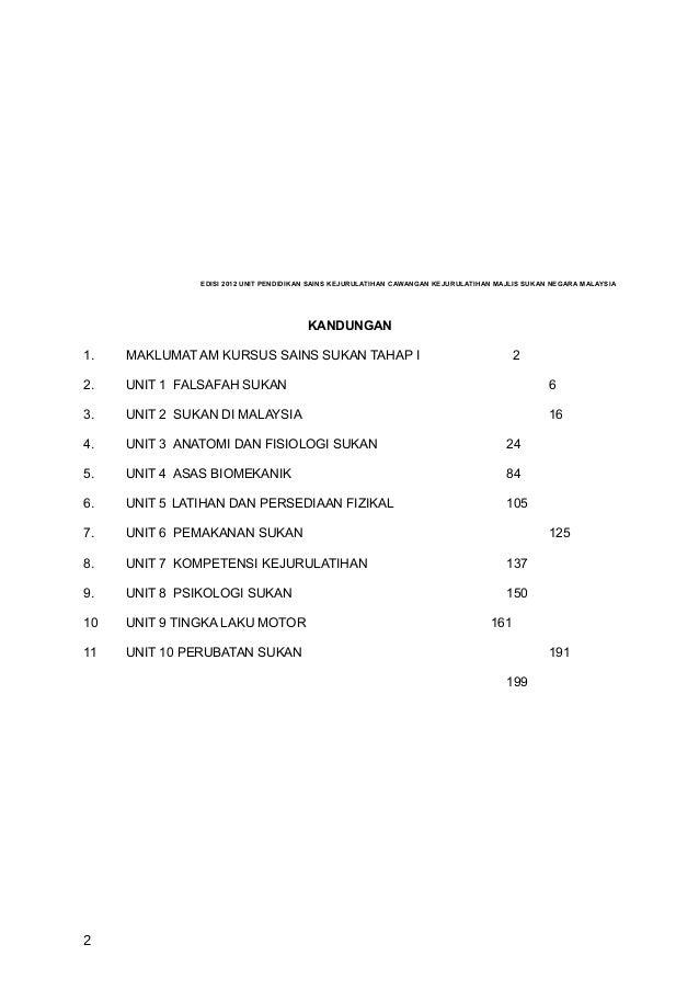 EDISI 2012 UNIT PENDIDIKAN SAINS KEJURULATIHAN CAWANGAN KEJURULATIHAN MAJLIS SUKAN NEGARA MALAYSIA                        ...