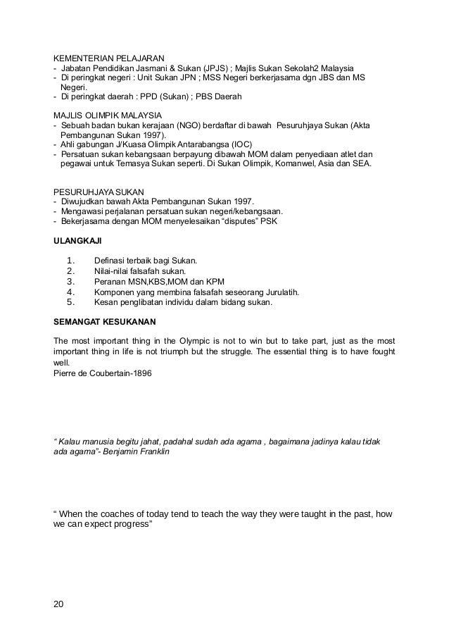 KEMENTERIAN PELAJARAN- Jabatan Pendidikan Jasmani & Sukan (JPJS) ; Majlis Sukan Sekolah2 Malaysia- Di peringkat negeri : U...