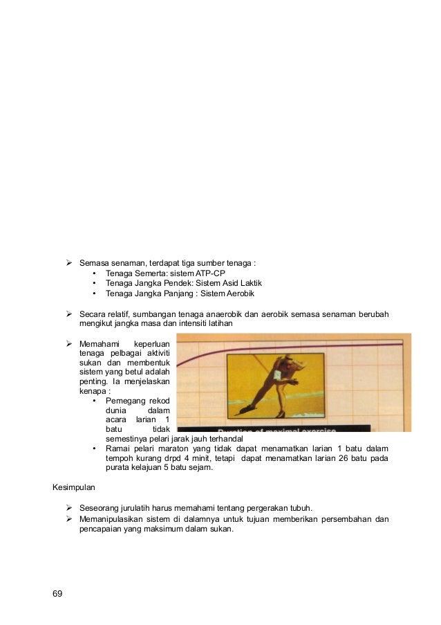  Semasa senaman, terdapat tiga sumber tenaga :         • Tenaga Semerta: sistem ATP-CP         • Tenaga Jangka Pendek: Si...