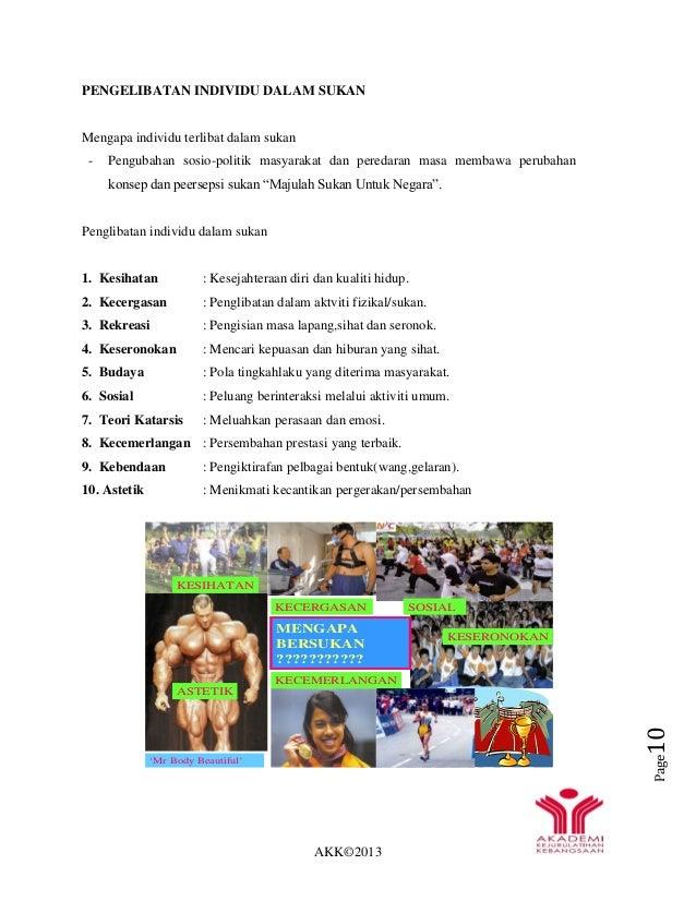 AKK©2013 Page10 'Mr Body Beautiful' ASTETIK KECERGASAN KESERONOKAN MENGAPA BERSUKAN ??????????? KECEMERLANGAN KESIHATAN SO...