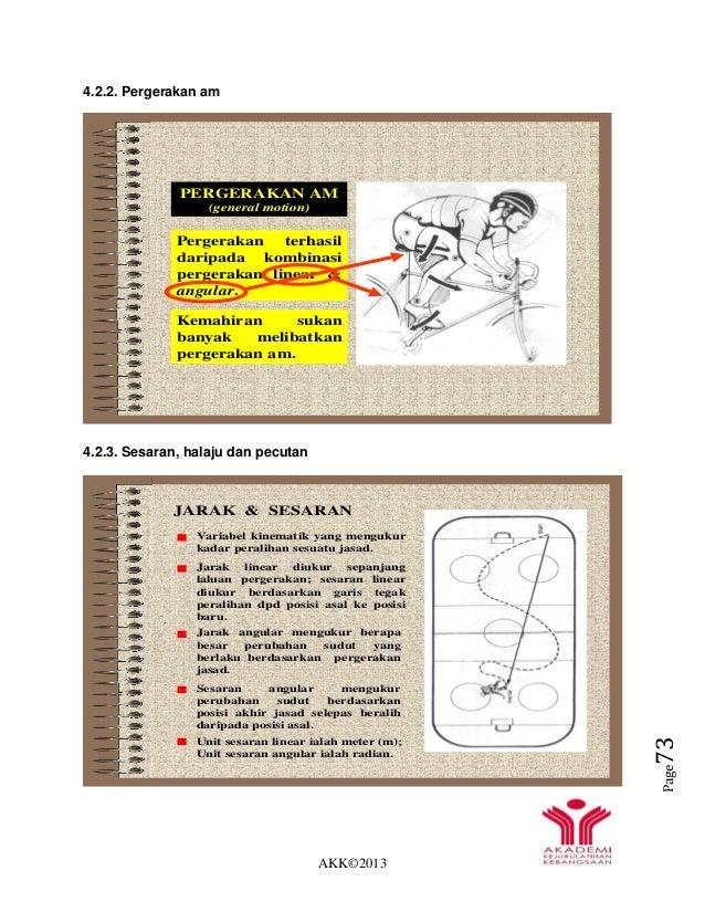 AKK©2013 Page73 4.2.2. Pergerakan am 4.2.3. Sesaran, halaju dan pecutan PERGERAKAN AM (general motion) Pergerakan terhasil...