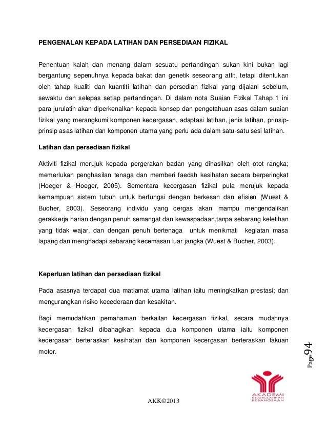 AKK©2013 Page94 PENGENALAN KEPADA LATIHAN DAN PERSEDIAAN FIZIKAL Penentuan kalah dan menang dalam sesuatu pertandingan suk...
