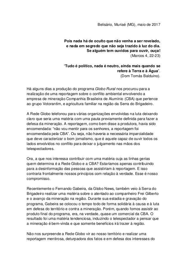 Belisário, Muriaé (MG), maio de 2017 Pois nada há de oculto que não venha a ser revelado, e nada em segredo que não seja t...