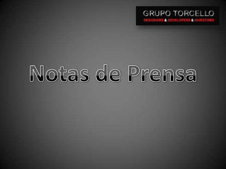 Notas de Prensa<br />