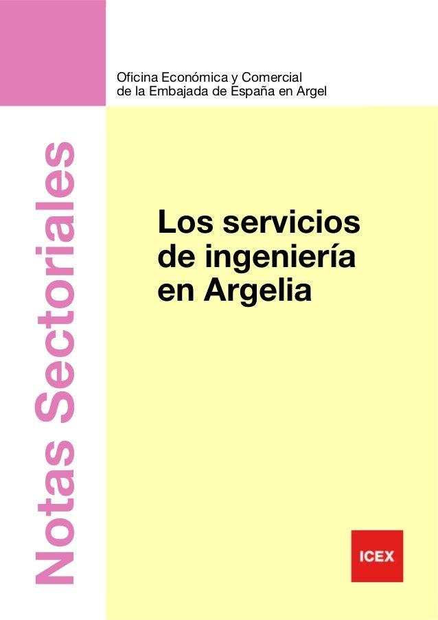 nota sectorial infraestructuras argelia