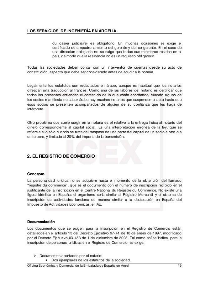 Nota sectorial infraestructuras argelia - Oficina de empadronamiento madrid ...