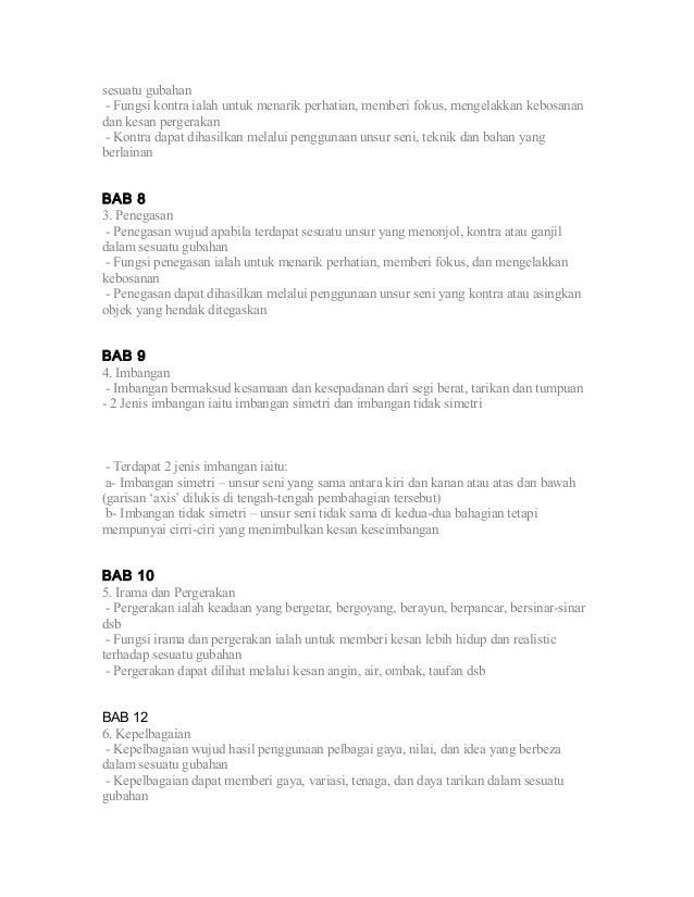 Nota Pendidikan Seni Visual Tingkatan 1