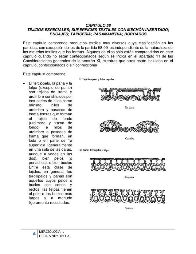 Notas explicativas cap 56 a 63 for Clasificacion de alfombras
