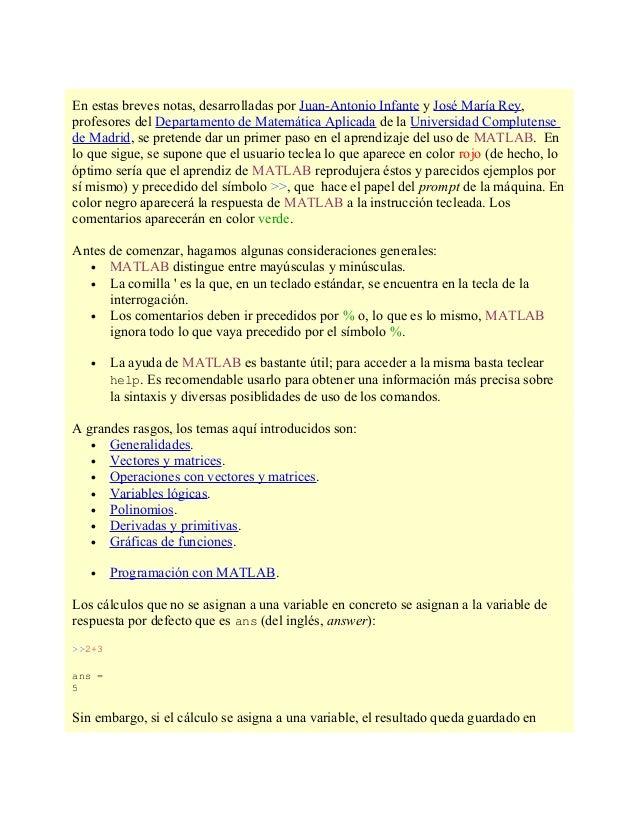 En estas breves notas, desarrolladas por Juan-Antonio Infante y José María Rey,profesores del Departamento de Matemática A...