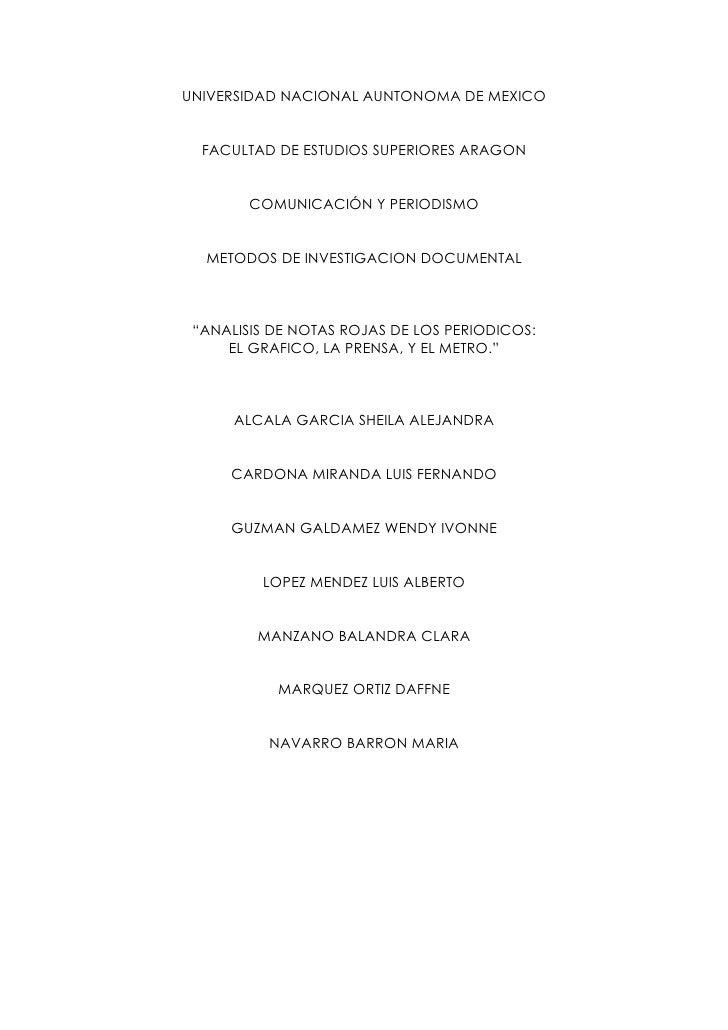 UNIVERSIDAD NACIONAL AUNTONOMA DE MEXICO     FACULTAD DE ESTUDIOS SUPERIORES ARAGON           COMUNICACIÓN Y PERIODISMO   ...