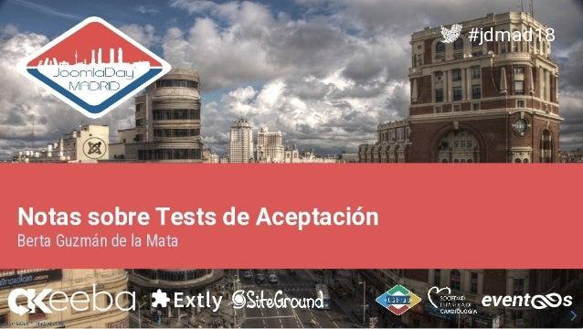 Notas sobre tests de aceptación en Joomla!