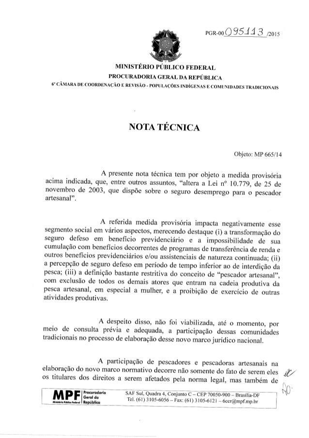 9012-00 Ó 95.111 3 /2015     MINISTÉRIO PÚBLICO FEDERAL  PROCURADORIA GERAL DA REPÚBLICA 6*' CÂMARA DE COORDENAÇÃO E REVIS...