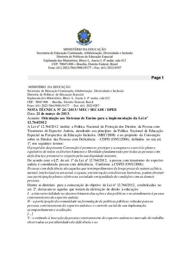 Page 1 MINISTÉRIO DA EDUCAÇÃO Secretaria de Educação Continuada, Alfabetização, Diversidade e Inclusão Diretoria de Políti...