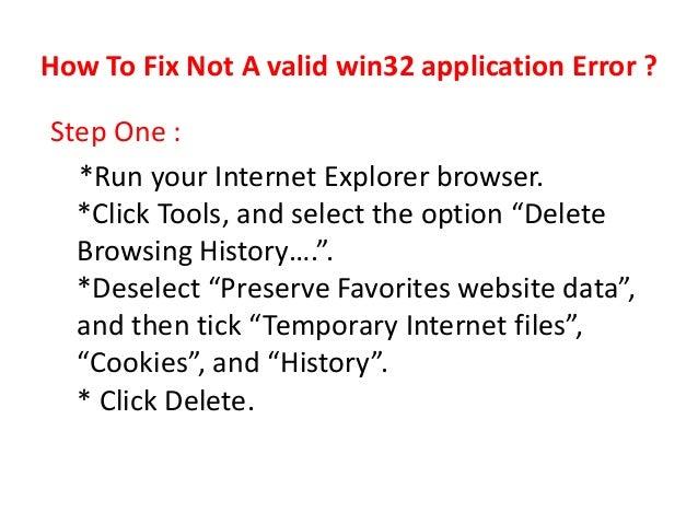 Not A valid win32 application Error Fix