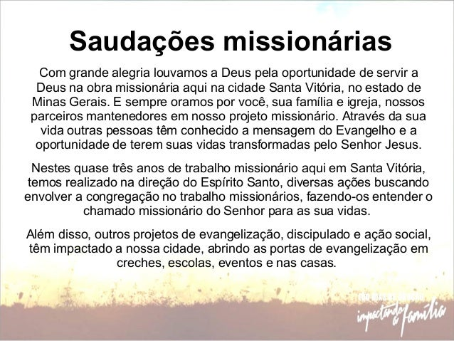 Notícias Do Campo Missionário Março 2013