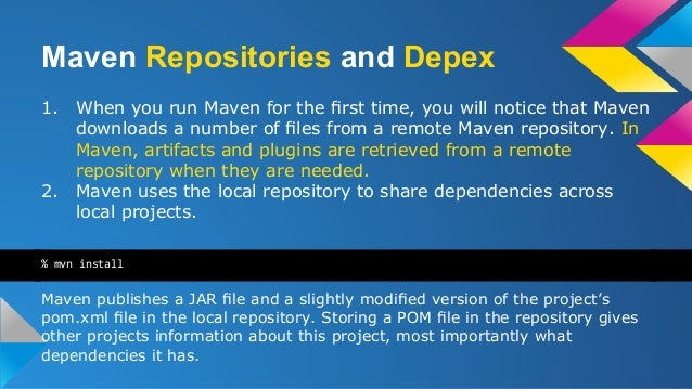 maven notes Not part of this note: the ability to create actual java source code with templates ( soft stuff) inside that maven will use to generate code for example, appjava.
