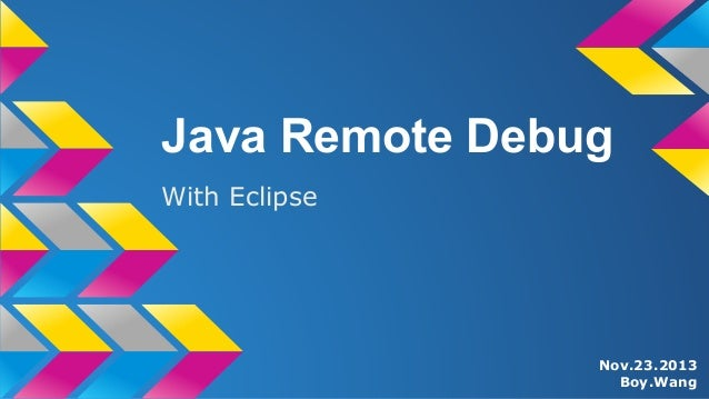 Note - Java Remote Debug