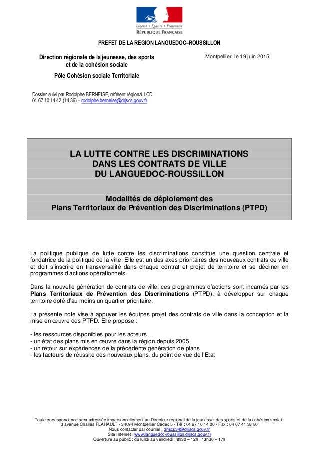 PREFET DE LA REGION LANGUEDOC–ROUSSILLON Toute correspondance sera adressée impersonnellement au Directeur régional de la ...