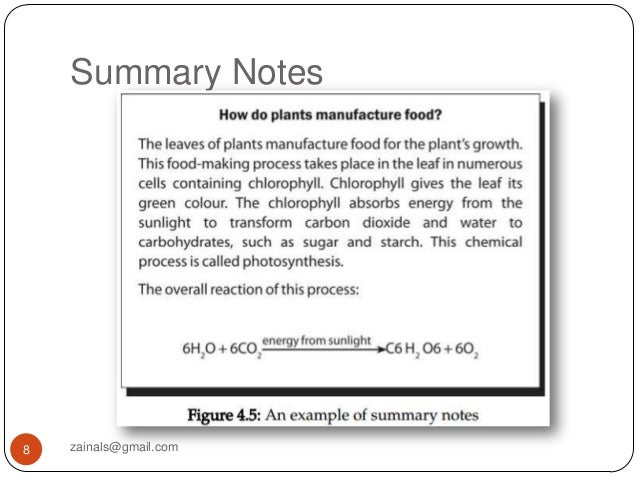 Note making and summary