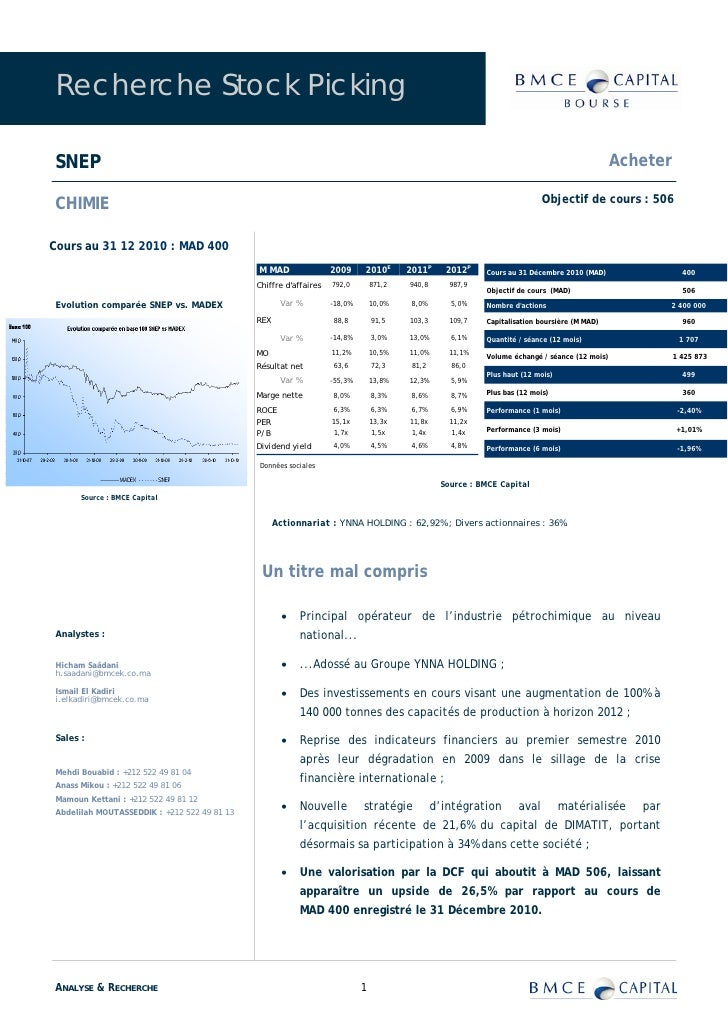 Recherche Stock Picking  SNEP                                                                                             ...
