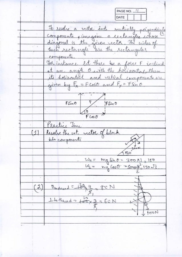 IIT JEE PHYSICS Class Notes by Ambarish Srivastava (Part 1)