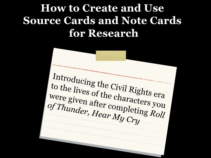 source cards for research paper If you need six source cards, this means you need to have found six possible sources for your research project already so, go to the library, and find six sources: books, journal articles, critical reviews, or internet entries that you could use in an assignment on the russian revolution.