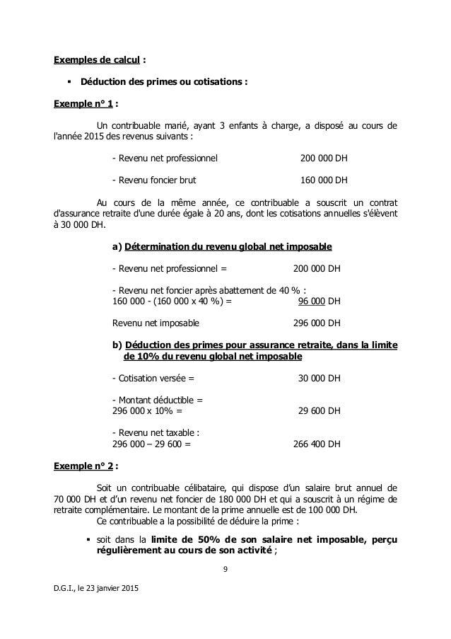Note Circulaire Pour La La Loi De Finances L F N 100 14 Annee 2015