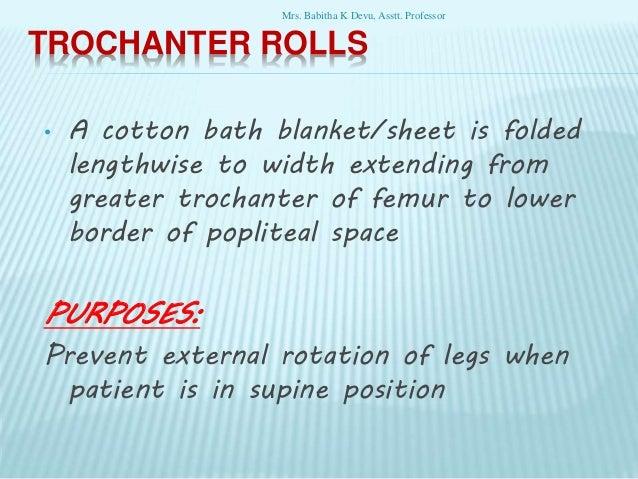 A trochanter roll