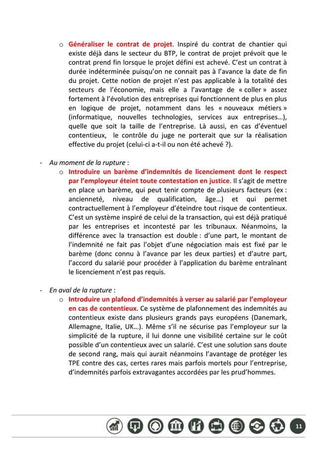 11  o Généraliser le contrat de projet. Inspiré du contrat de chantier qui existedéjàdanslesecteurduBTP,...