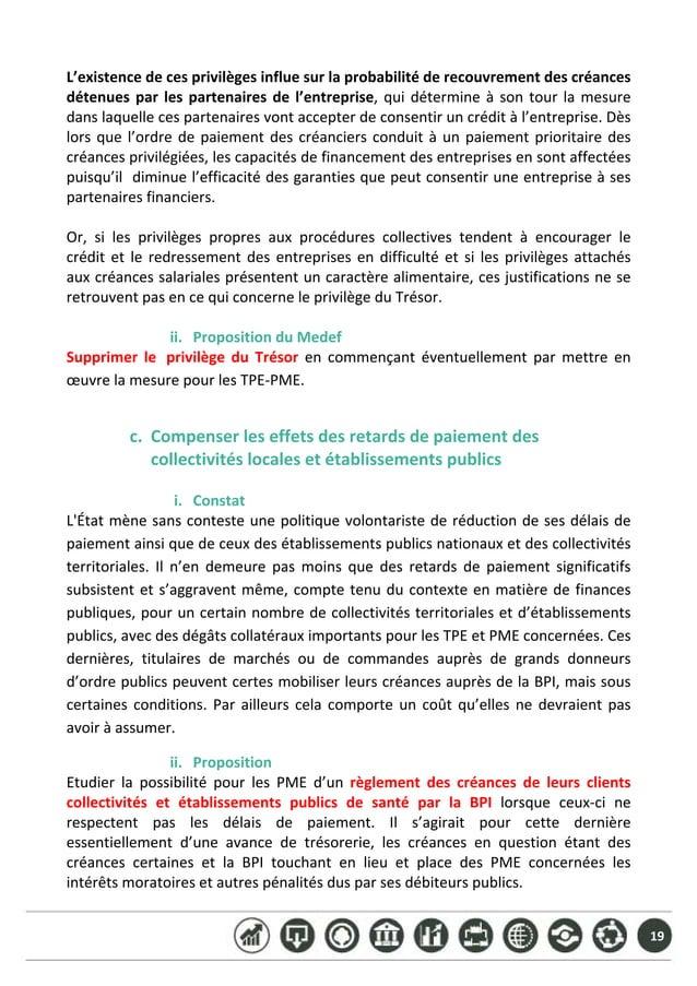 19 L'existencedecesprivilègesinfluesurlaprobabilitéderecouvrementdescréances détenuesparlespartenairesdel...