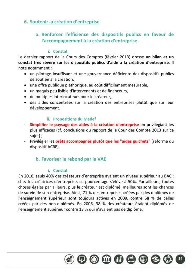 24 6. Soutenirlacréationd'entreprise  a. Renforcer l'efficience des dispositifs publics en faveur de l'accomp...